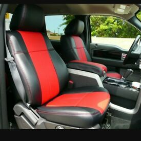 LEATHER CAR SEATCOVERS TOYOTA PRIUS FORD GALAXY VOLKSWAGEN SHARAN CUSTOM MADE TO MEASURE