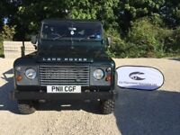 Land Rover Defender 110 Double Cab Pick Up With Hard Top Rear