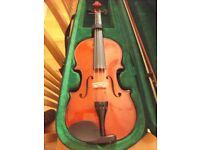 Windsor 4/4 violin, bow & case