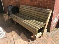 Handmade wooden garden bench
