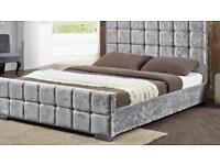 Brand new roman Conrad crushed velvet double bed RRP £380