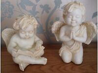 Christmas in July Pair of Angels, Cherubs Ornaments NEW