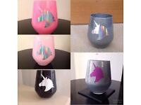 Glitter Make Up Brush Holders - Holographic Unicorn