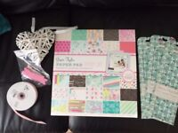 Scrapbooking papers and craft materials