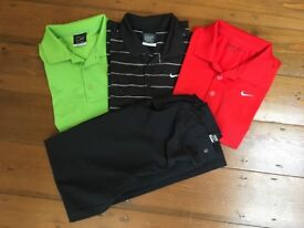 Boys Junior Nike Golf Tops and Trousers (Nike Dri-Fit)
