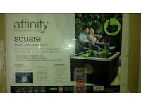 Blagdon Affinity black & aluminium Square Feature Pond. Brand New in box