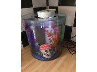 Marina 360 10L Fish Tank built in Filter + Light - 25w heater