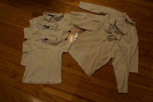 Style uniforme bleu et blanc: garçon 3 à 5 ans toddler+régulier
