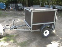 GALVANISED 4 X 4 X 3 BOX TRAILER 500KG VERY STRONG TRAILER..