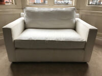 Used Crate and Barrell White Loveseat; Retails £1000+