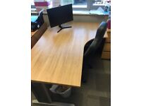 Corner Office Desk. Oak Effect