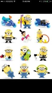 $60 full set despictable me 3 mcdonald minions sealed and new