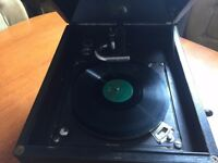 Antique Gramophone Record Player His Masters Voice Works needs restore