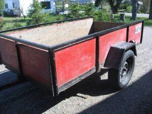 Remorque / trailer en bois 4`X8`