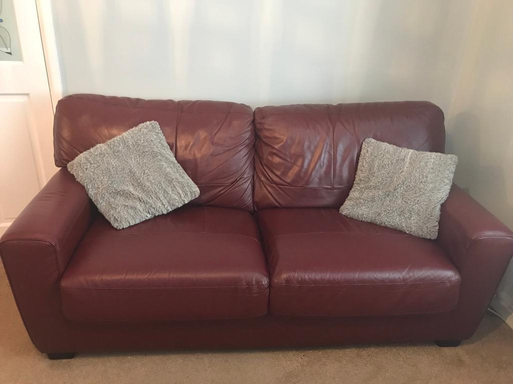 3 & 2 seater leather settees SOLD DEPOSIT PAID