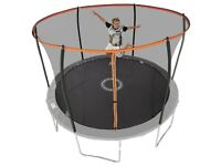 Sportspower 12ft Trampoline with Folding Enclosure and ladder