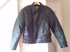 "akito mercury plus gents biker jacket size 44"""