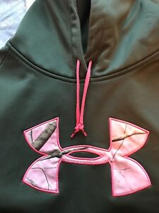 Under Armour Dark Green & Pink Camo Hoodie