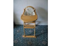 Wooden High Chair ID 45/8/17