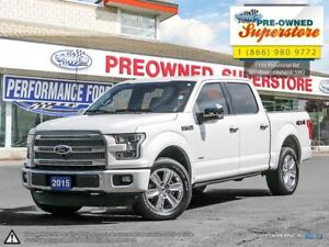 2015 Ford F-150 Platinum w/ecoboost NAV and bird's eye view<<<<