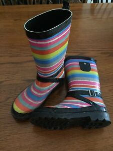Girls Size 2 Rubber Boots