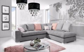 FERRARA relaxation and comfort brand new sofa corner sofa couch settee Delivery 1-10