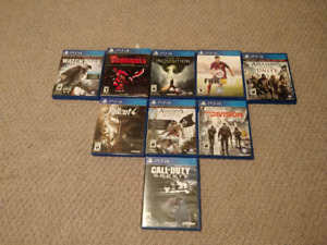 PS4 GAMES FOR SALE- Fallout 4, Assassin's Creed, Call Of Duty...