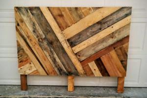 Rustic headboard, pallet headboard,  upcycled, wood headboard