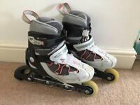 Decathlon kids inline rollerblades - UK Size 3 (with bag)