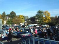 Charity Car Boot Sales supported by AutoTest in aid of Epsom Medical Equipment Fund