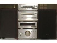 60w Technics HD301 mini HI FI MICRO system CD FM Cassette AUX input for iPod MP3 or phone