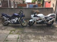 Yamaha Fazer 1000 and Honda VTR1000 Firestorm for sale