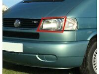 VW Volkswagen T4 Caravelle Transporter Long Nose left side nearside passenger headlight 1996-2003