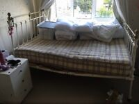 Vintage bed! Great mattress, framework worn out but still good to use!