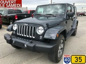 2017 Jeep WRANGLER UNLIMITED SAHARA BLUETOOTH ENSEMBLE REMORQUAG