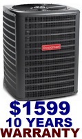 Goodman 13 SEER Air Conditioer for $1599 with 10 Years warranty