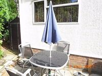 Garden Table with 3 Chairs and accessories