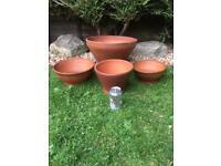 Vintage Terracotta Pots x 4