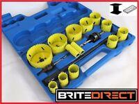 HOLE SAW CUTTER SET OF 17 Pc Bi Metal Circular Round drill Cutting Wood Steel Brite Direct Ltd.