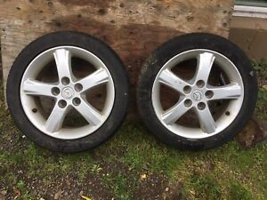 2003 Mazda protege tires and rims