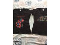 Teenager band t shirts Foo Fighters/ Arctic Monkeys size 8