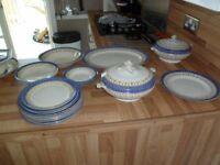 assortment of blue & white china TILL & SON Burslem Empire design