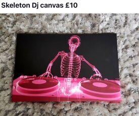 Skeleton D J Wall Art