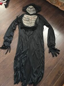 Adult skeleton costume. Excellent condition.