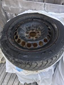 Selling winter tires and rims 205/55r16, rims 5x112!