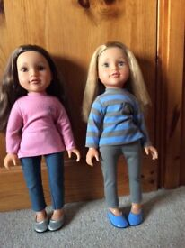 2 design a friend dolls, wardrobe and outfits