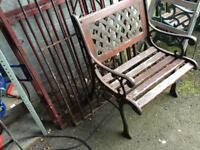 heavy cast iron garden bench / chair £25 many more available
