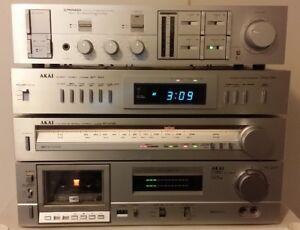 Pioneer Akai Amplifier Cassette Tuner Timer Home Stereo