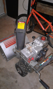 5/22 two stage snowblower.  In perfect condition.  Needs nothing