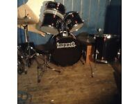 Drum kit,in black,5 piece ,£195.00